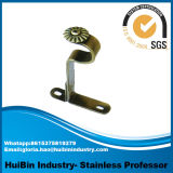 Windows Metal Curtain Rod Bracket in Stock, Wooden Color Curtain Rod Bracket