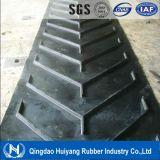 Industry Fabric Ep/Nn Polyester Nylon Chevron Pattern Transmission Rubber Conveyor Belt
