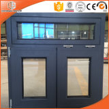 Seamless Joints Aluminum Clad Solid Pine Wood Top Hung Window, Customized Size of Aluminum Awning Window