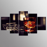 HD Printed Wine Ice Cigar 5 Piece Painting Wall Art Canvas Print Room Decor Poster Canvas Free Shipping