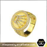 American Style 925 Silver Jewelry Hip Hop Mens Ring
