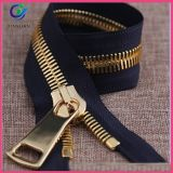 Metal Zipper Gold Teeth Open End