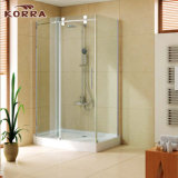 Aluminum Profile Simple Shower Room with Stainless Steel Rollers