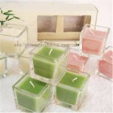 Square Glass Jar Candle in Crystal Jar