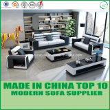Miami Office Furniture Genuine Leather Wooden Sectional Sofa