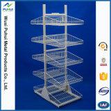 Double Sides Floor Standing Metal Wire Shelf Display Rack (PHY3031)