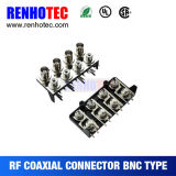 Four BNC Female to Four RCA Female Connector for PCB