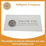 OPP Bag Pin Badge, Gift, Custom Paper Card Die Cast Lapel Pin, Silver Emblem