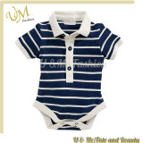 Ttripe Polo Collar Baby Romper Set Infants Toddlers Clothing