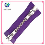 Fashion Metal Silver Y Teeth Zipper Supplier Double Sides