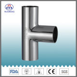 Sanitary Stainless Steel Pipe Fitting: Welded Equal Tee with Asme Bpe