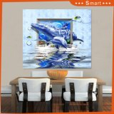 Customized Big Size Free 3D Dolphin Wall Papers Home Decoration