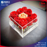 Factory Wholesale Clear Acrylic 9 Roses Box