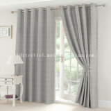 2017 Newest Typical Special Yarn Dyed Linen Looking Jacquard Curtain