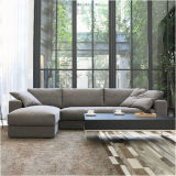 Modern Furniture Wooden Leisure Fabric Sofa for Living Room