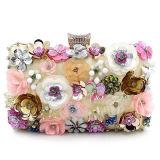 Designer Handmade Bead Sequins Evening Clutch Handbags with Flower Decoration Eb708