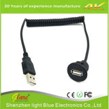 USB Panel Mount Coiled Cable