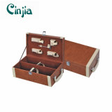 Double Wine Leather Box with Wine Accessories