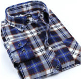 Wholesale Button Collar Shirt Fashion Men Cotton Long Sleeve Shirt