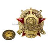 Wholesale 3D Saber Antique Gold Collectible Lapel Pin