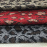 Three Colors Leopard Print Jacquard Wool Fabric Stock