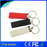 Wholesale 8GB Metal Keychain Leather USB Flash Memory
