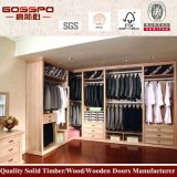 American Painting Red Oak Wooden Bedroom Clothes Wardrobe (GSP9-010)