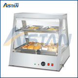 Dh2X2 Curved Glasses Commercial Food Warmer