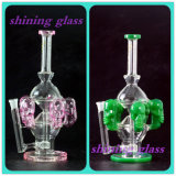High Quality Unique Design Glass Smoking Water Pipe with Skull Surround
