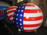 Promotion Outdoor American Flag Round Inflatable Balloon for Russian Flag