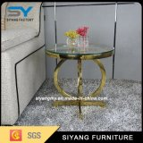Hot Sale Stainless Steel Furniture Glass Side Tea Table
