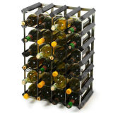 Wood Display Wine Shelves with Galvanized Steel for decoration