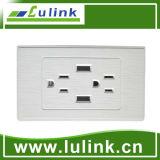 2 Gang Us Standard USB Socket USB Outlet