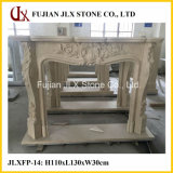 Beige Marble European Style Fireplace
