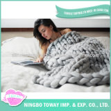 Fashion Style Hand Knitted Crochet Wool 100% Acrylic Blanket