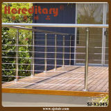 Exterior SUS 304 316 Balcony Cable Wire Railing / Stainless Steel Baluster (SJ-X1045)