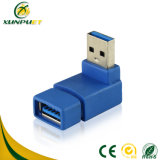 Blue 90 Degree Micro 3.0 USB Adapter