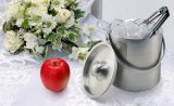Stainless Steel Double Wall Ice Bucket with Lid (JX-038)