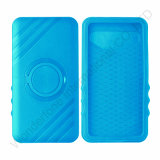 Blue Plastic+Silicone Universial Case for Mobile Phone