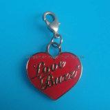 Custom Heart Shaped Metal Enamel Charm Zipper Head