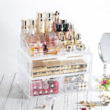 Fashion Transparent Acrylic Cosmetic Drawer Type Storage Box
