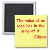 Thomas Edison Quote Refrigerator Magnets