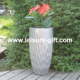 Fo-237 Tall Tapered Fiberglass Plant Pot with Colorful Finish