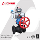 Wcb Pneumatic Ball Valve with Manual Device