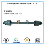 Axle of Low Bed Round Beam for Semi Truck Trailer From Manufacture