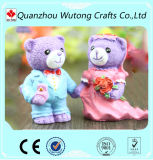 Mini Resin Teddy Bear Decoration Wedding Return Gifts for Newly Married Couple