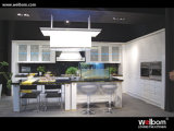 2015 Welbom White L Shape Wood Kitchen Cabinet with Island