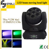 7PCS 12watt RGBW 4in1 Mini LED Moving Head (HL-010BM)