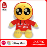 Emoticons Plush Characters Soft Stuffed Toy Wearing Clothes