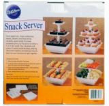 Plastic 3-Tier Treats & Appetizers Stand Snack Server (TV424)